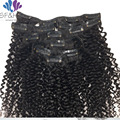 New Arrival Kinky Curly Clip In Hair Extensions Clip in Human Hair Extensions 3B 3C African American Kinky Curly Clip Ins