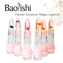 baolishi flower lipstick jelly lipstick crystal lip balm Plants fruit essence lip gloss tint beauty brand