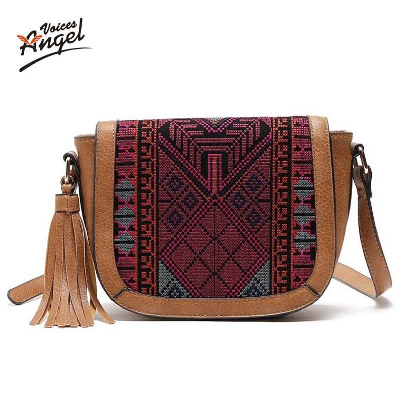 все цены на Hot Sale Tassel Women Bag Leather Handbags Cross Body Shoulder Bags Fashion Messenger Bag Women Handbag Bolsas Femininas 2017 онлайн