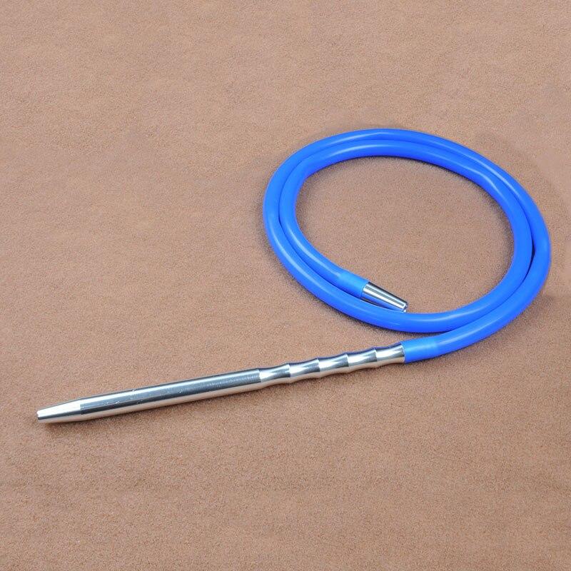 מערך שלם 1.8 m צבע מוצק ידית אלומיניום עם צינור נרגילה נרגילות siliconenargile אביזרי עישון צינור-WT031