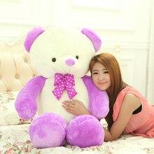 big plush round eyes purple teddy bear toy huge bear doll gift about 160cm