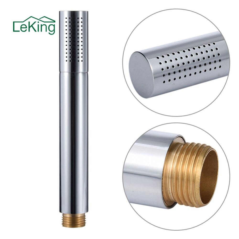 LeKing Mordern Style Bathroom Stainless Steel + Copper Hand Held Shower Heads Chrome Top Spray Rain Shower Heads