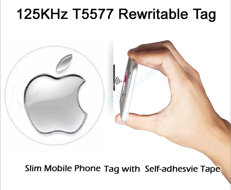 125KHz T5577 Rewritabe Mobile Phone Tags Sticker RFID Anti Metal Interference Proximity Card Rewrite Copy Clone a pa lxh0074 zodiac pattern 24k gold mobile phone anti radiation sticker golden