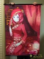 Love Live/LL HD Cartoon Scrolls Poster Children bedroom Decoration Animation Banners Hanging Art Waterproof Cloth 60X90 CM