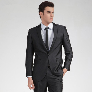 New Real Terno Smoking Fashion Groom Tuxedos Notched Lapel Wedding Suits For Men 2 Pieces Groomsmen Formal Suit(jacket+pants)