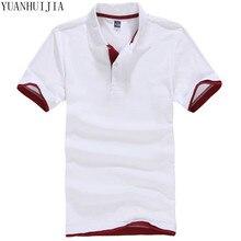 Camisa polo da marca dos homens novos para homens polos homens algodão curto camisa de manga Roupas jerseys golftennis Plus Size M-XXL 3XL homme