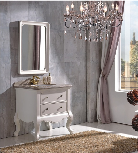 Stile antico Mobiletto del Bagno In Legno con Specchio di Gomma ...