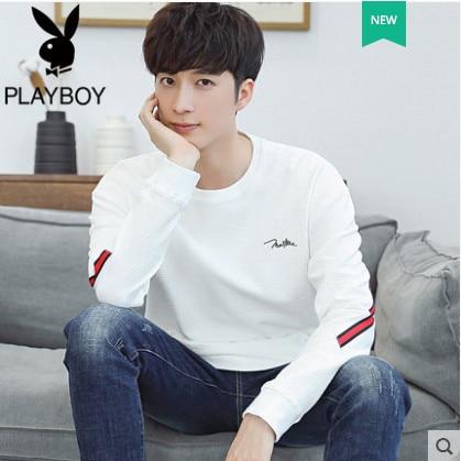 Playboy Long Sleeve T Shirt Men S Autumn Korean Slim Men S Round