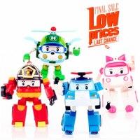 4pcs/Set Korea robot classic plastic Transformation Toys Toys Best Gifs For Kids free shipping Christmas gift #E