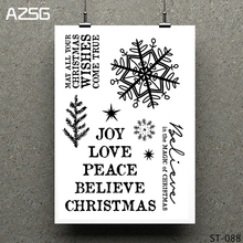 AZSG Wishes Leaves Snowflake Clear Stamps/Seals For DIY Scrapbooking/Card Making/Album Decorative Silicone Stamp Crafts