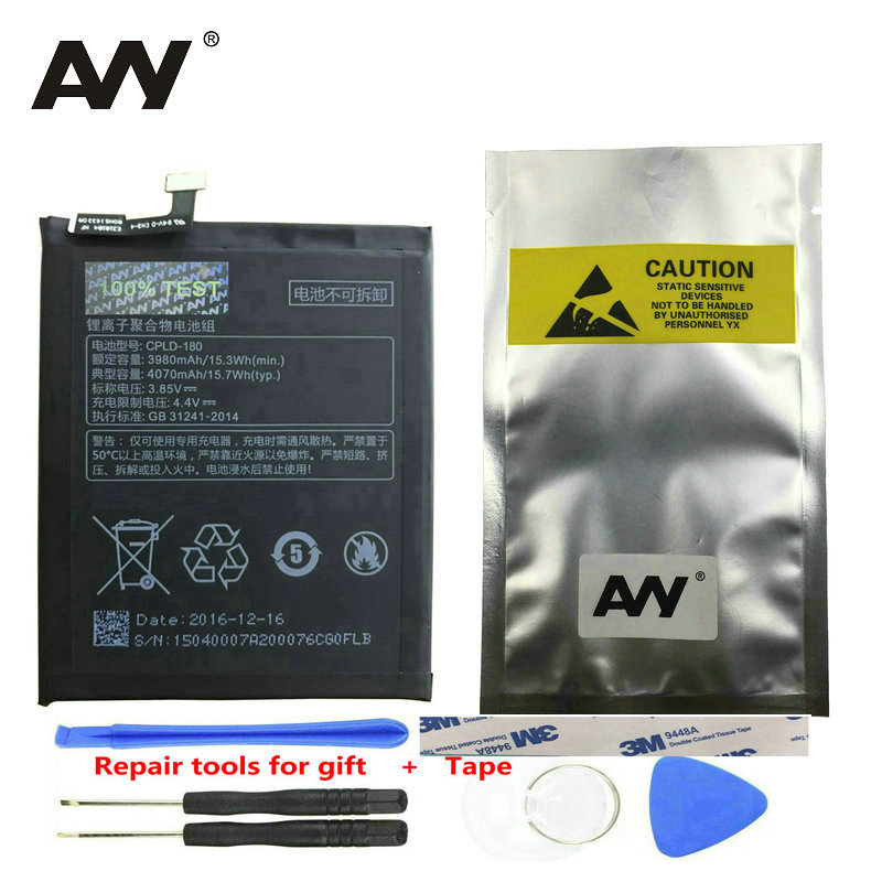 AVY CPLD-180 Battery For Coolpad LeEco Cool Changer S1 C105-8 Mobile Phone Rechargeable Replacement Li-polymer Batteries 3980mAh