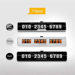 Image 3 - Car Styling Car Phone Number Plate Temporary Car Parking card with Switch 3D Hidden Mobile Cell Phone Number Card Car Sticker