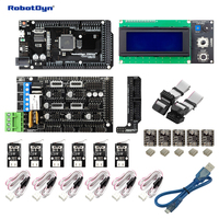 3D Printer CNC KIT3 MEGA 2560 RAMPS 1 4 LCD2004 Controller Drivers End Stop Compatible For