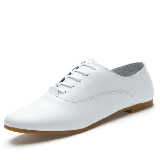 Zapatos blancos de otoño casual para mujer Npyjxaa