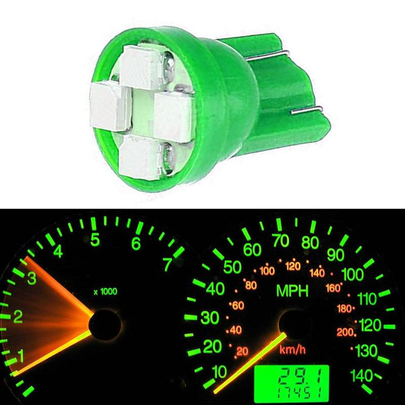 Multifunctional 5pcs T10 <font><b>W5W</b></font> 194 3528 wedge <font><b>LED</b></font> Light Car Dashboard Instrument Panel Lamp <font><b>Bulb</b></font> White Blue Red Green Color image
