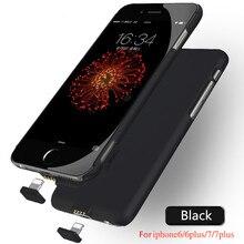 Заряда батареи для iphone 7 7 plus роскошный тонкий ультра тонкий банк питания чехол для iphone 6 6s 6 plus 6s плюс батареи случае