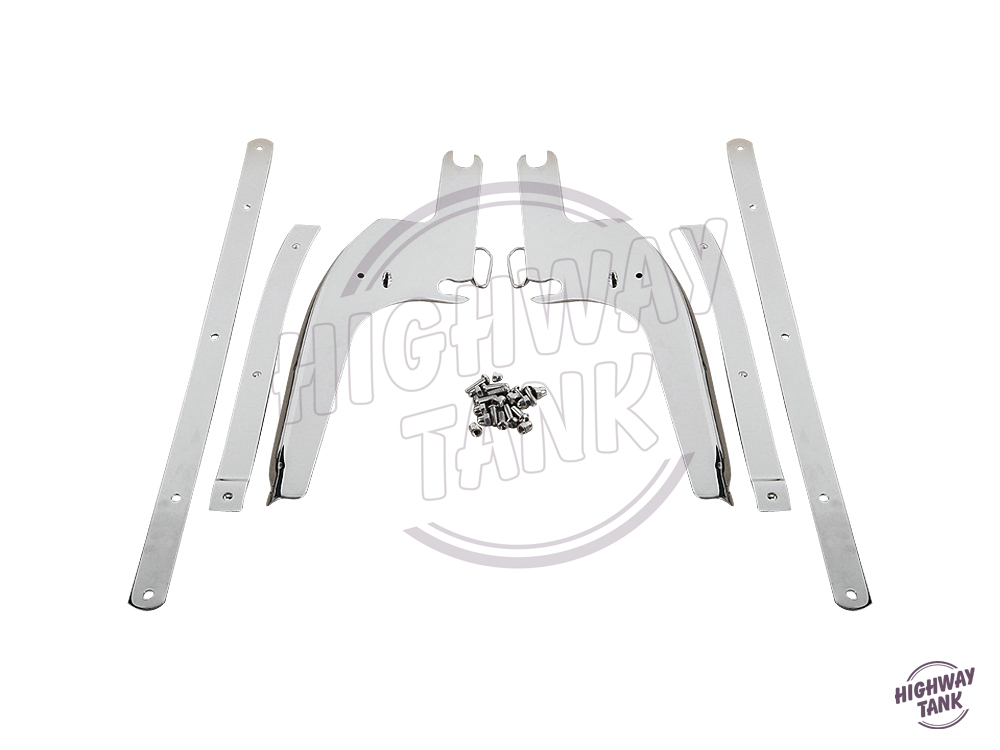 Chrome Motorcycle Windshield Bracket Kit Moto Windscreen mounting case for Harley Touring Road King 1994-2011 2012 2013 2014 6 black windshield bag saddle 3 pouch pocket motorcycles bag case for harley davidson touring 1996 2013 free shipping