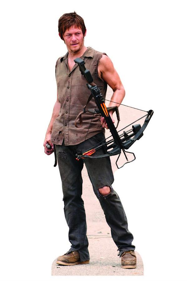 Custom canvas art daryl dixon wall stickers the walking for Mural walking dead