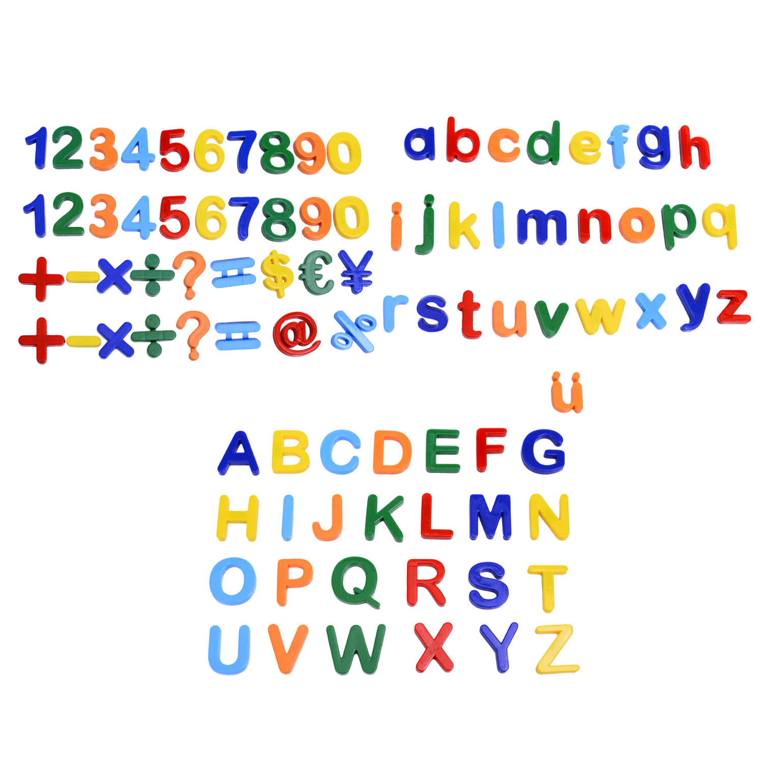 Kids Colorful Plastic Magnetic Numbers Alphabet Letters Fridge Magnets Montessori Refrigerator Magnet Sticker Math Learning Toy