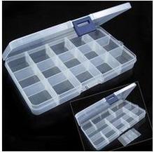 15 слот ясно, электронные Компоненты хранения Организатор Ассортимент Box Пластик случае удобства хранения мелких предметов
