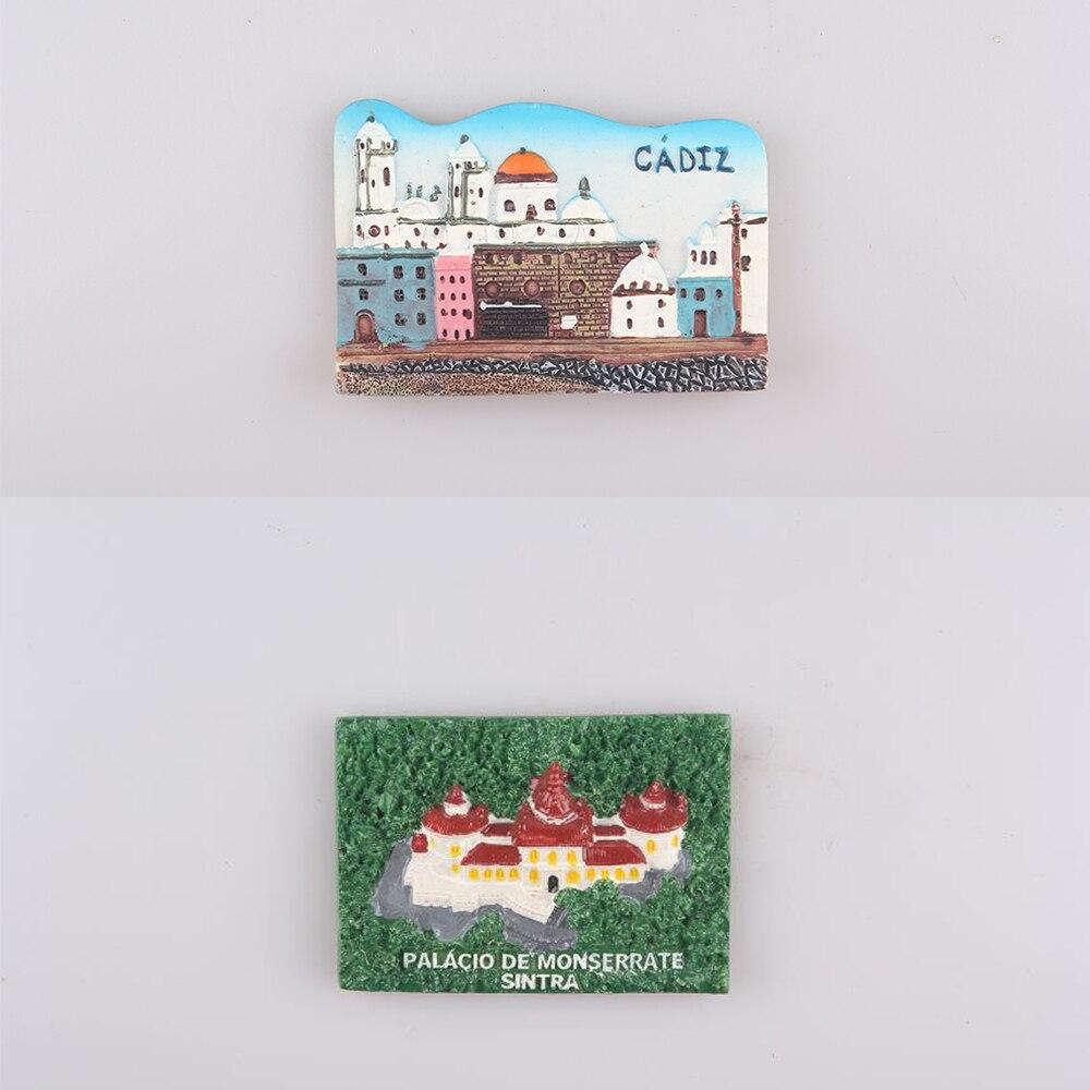 Factory New Design Promotion Prices Spain Castle 3D Fridge Magnets Gift Travel Souvenirs Refrigerator Magnetic Sticker Hot Sale