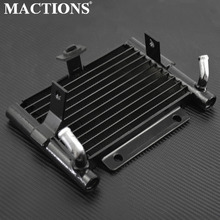 Motorcycle Oil Cooler Radiator Water Tank For Harley Touring Road King FLHR Electra Glide Ultra Classic FLHTCU FLHX FLTRX 17-18