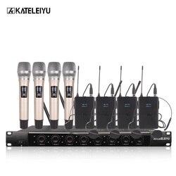 System 8600F Professional Wireless Microphone 8 Channel Professional VHF 8 Stage Karaoke Microphone Handheld Wireless Microphone