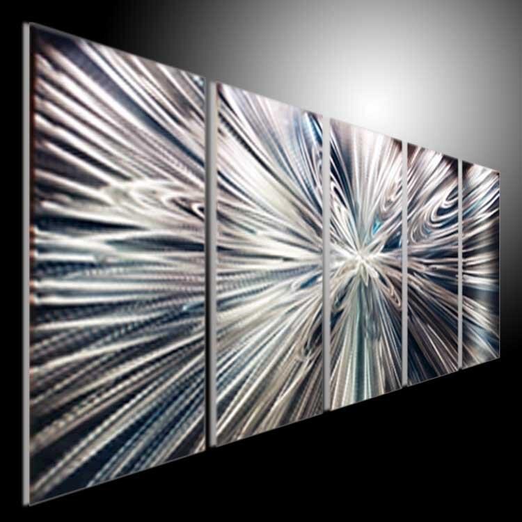 Originele aluminium kunst olieverfschilderij breking lijn for Schilderij op aluminium