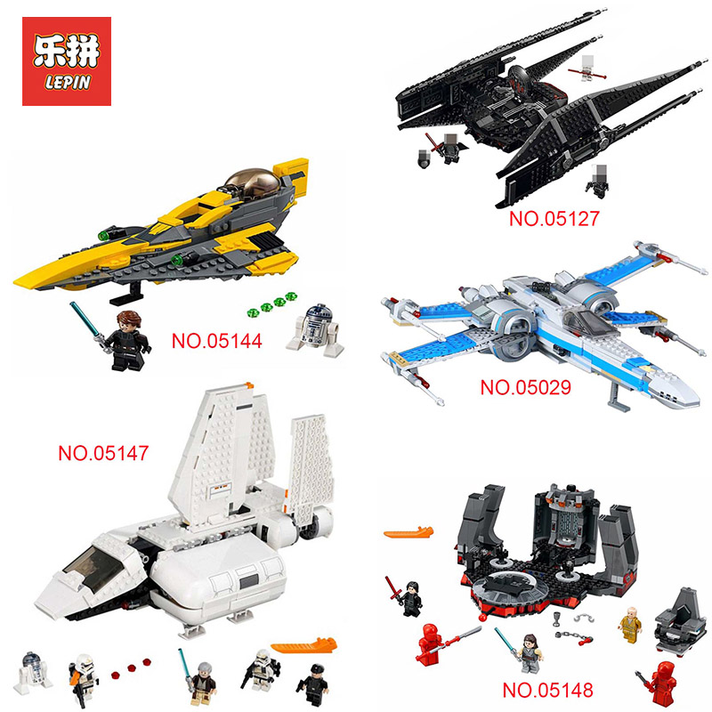 Lepin Star Wars 05148 05142 05147 05007 05127 Legoing 75218 75214 75149 75217 75179 75212 75216 Bricks Building Block Model Toys 2018 new lepin 05148 star wars snoke s throne room set model building kits blocks bricks children toys compatible legoing 75216