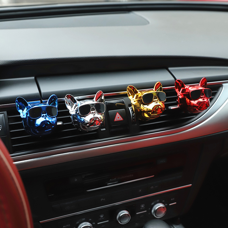 Automobiles & Motorcycles Interior Accessories Dynamic Car Ornament Cute Dogs Car Vents Perfume Air Freshener Automobiles Interior Perfume Fragrance Car Smell Clip Accessories Gift