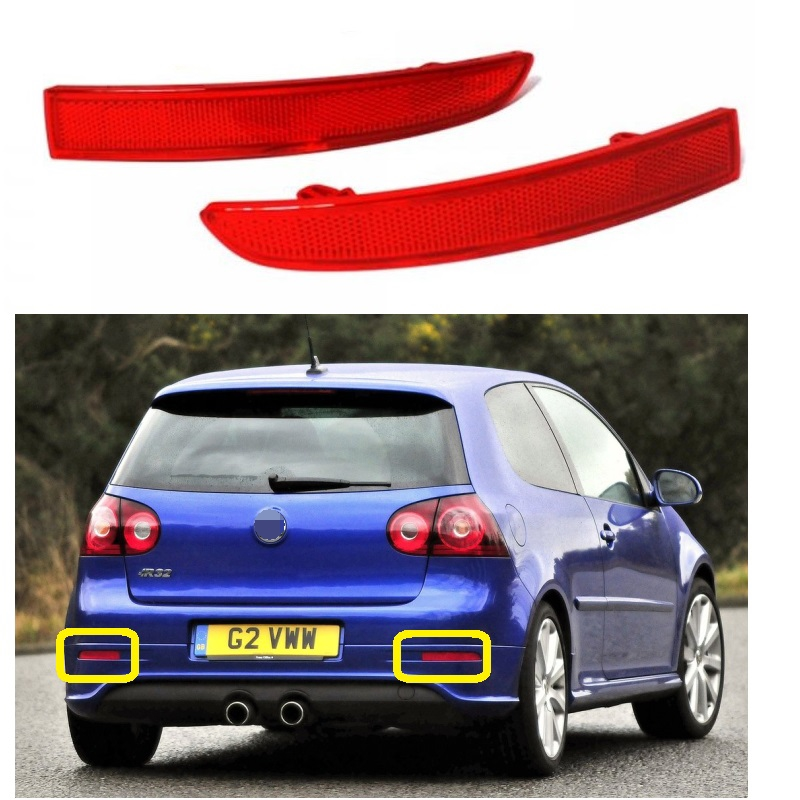 2pcs For VW Golf V 5 MK5 R32 2005 2006 2007 2008 2009 Car-Styling Rear Tail Bumper Corner Reflector Decorative False Light Lamp red left right car rear side tail light brake lamp light for toyota hilux 2005 2006 2007 2008 2009 2010 2015 lh rh