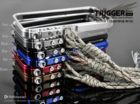 Trigger kim loại bumper cho iphone 5 5 s se M2 cao cấp thiết kế nhôm bumper hợp tactical bản + Bán Lẻ gói, Miễn Phí Vận vận chuyển