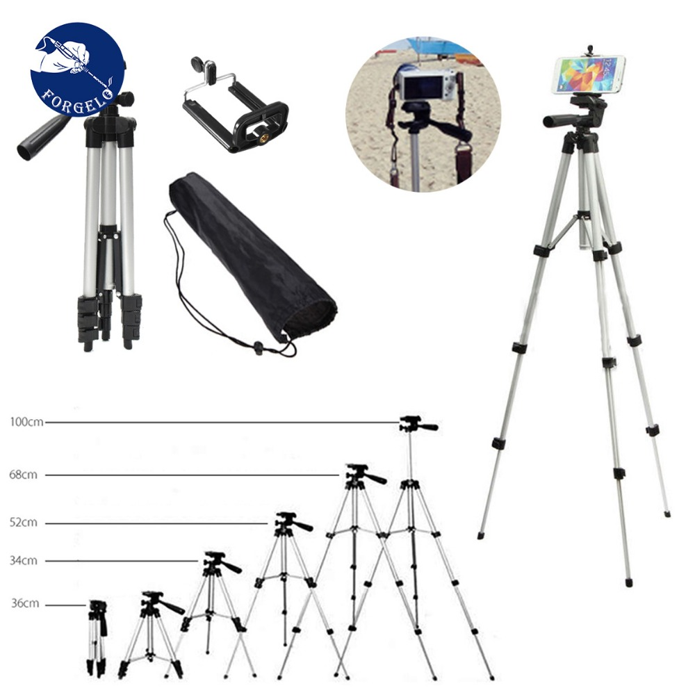 36-100 cm Universal Einstellbare Stativ Halterung Halter Clip Set Für Handy Kamera für iPhone XR XS für Samsung S10 S10E