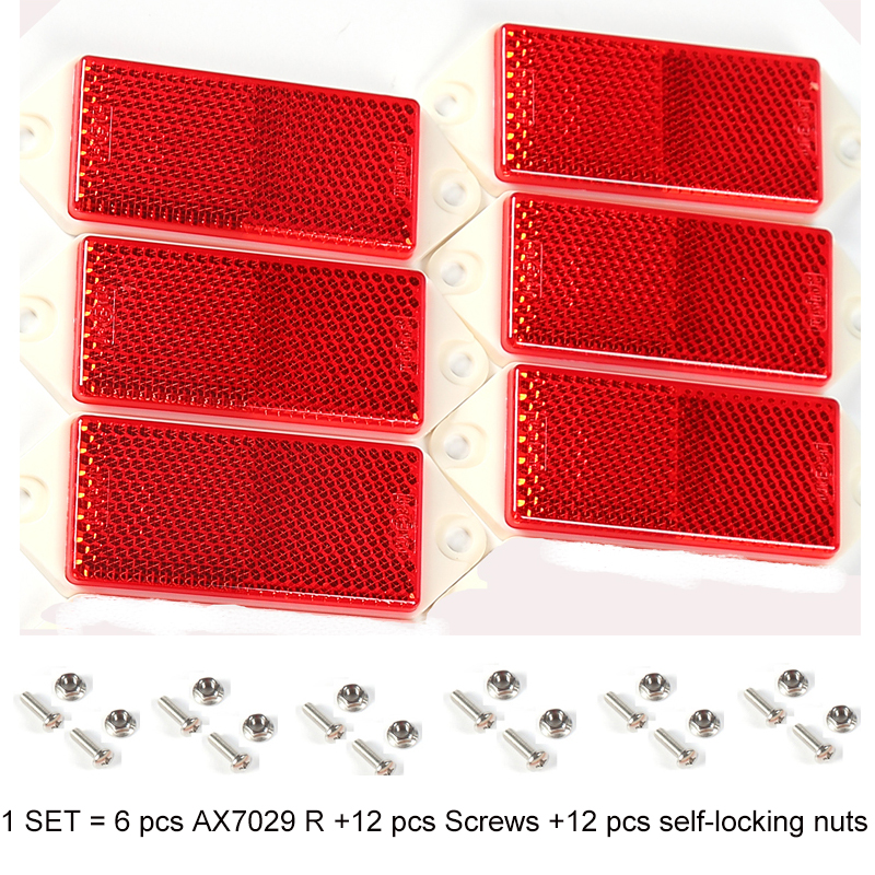 6 PCS AOHEWE red rectangular reflector  with screw E C E Approval reflect strip for trailer truck lorry bus RV caravan bike-in Reflective Strips from Automobiles & Motorcycles