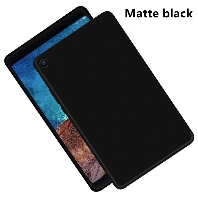 For Xiaomi Mi Pad <font><b>4</b></font> Mipad <font><b>4</b></font> Plus 2018 Soft Silicone Matte Black TPU Back Cover For Xiaomi mipad <font><b>4</b></font> 8.0 <font><b>10.1</b></font> inch Protective Case image