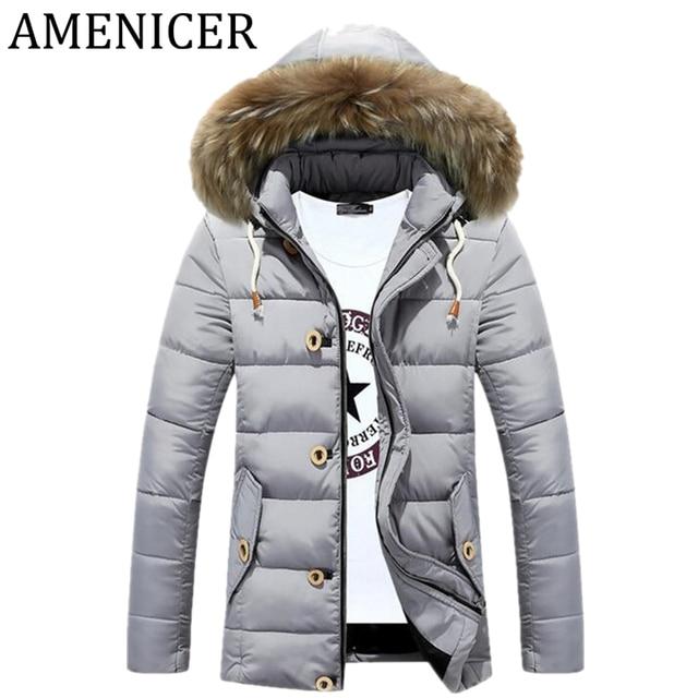 79e85a1febac3 New Arrival 2017 Men Casual Fashion Parka Thicken Warm Slim Fit Mens Jackets  Hooded Camperas De Hombre De Invierno