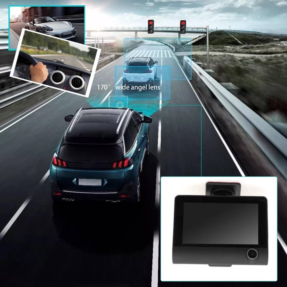 2017 Car Video Recorder Rearview Camera 4.0 LCD Display Dual Lens G-Sensor HD 1080P Car DVR Dash Cam  Vehicle Recorder relaxgo 5android rearview mirror car camera gps navigation wifi car video recorder dual lens 1080p vehicle dvr parking dash cam