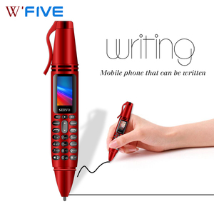 SERVO K07 0.96inch Tiny Screen Pen mini Mobile phone Dual SIM Card Bluetooth Dialer Cellphone with Flashlight Recording Pen(China)