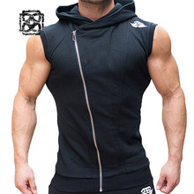 Men's hoodie vest Fitness jacket sports Shirt soccer jersey Workout Running training tank top outdoor