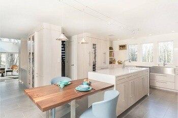 2017 новая стильная кухонная мебель из цельного дерева с 18 мм фанерным каркасом и 20 мм деревянной панелью