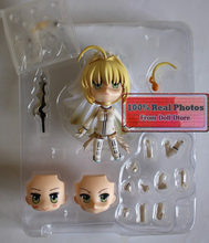 "Japanese anime 10cm Classic Game Anime Fate Stay Night Fate Extra CCC Saber Bride Good Smile 4"" Nendoroid 387 # Action Figure(China)"
