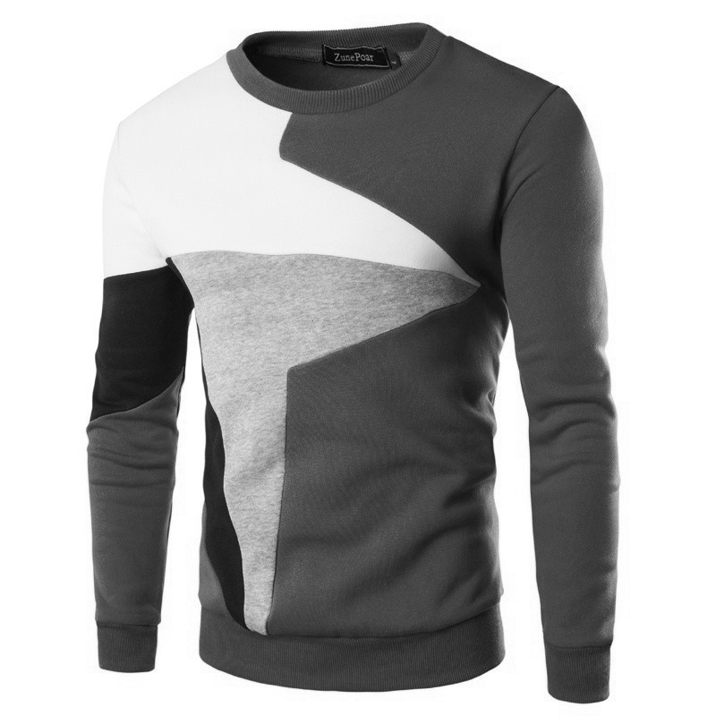 ZOGAA 2019 New Autumn Winter Men Sweaters Guys Boys Male Long Sleeve Patchwork Round Neck Sweaters Male Cotton Slim Fit Sweaters