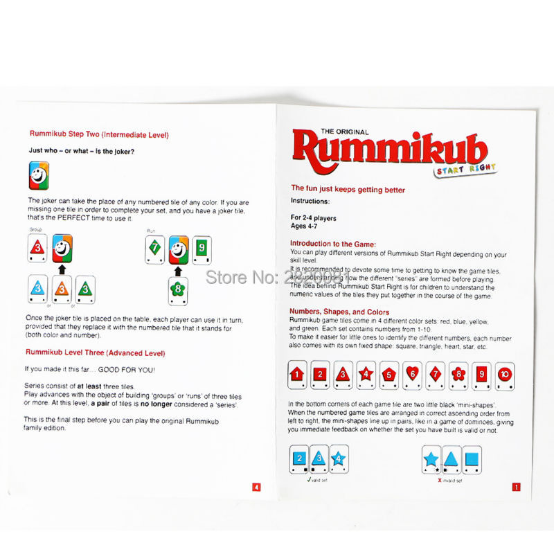 Novelty Toy Puzzle Digital Game Rummikub Number Card Game For 2 4