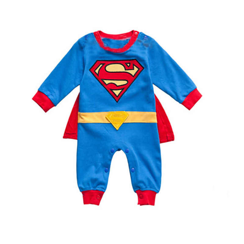 5b390412d ... Baby Clothes Newborn Romper Baby Boy Clothes Winter Cartoon Superman  Cotton-Padded Baby Body Suit