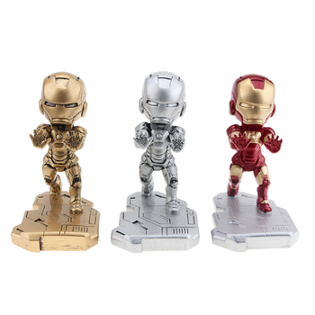 Fashion Mobile Phone Smartphone Desk Stand Marvel Movie Iron Man Phone Mini Desk Stand For iPhone Samsung SonyHTC For All model birthday cake