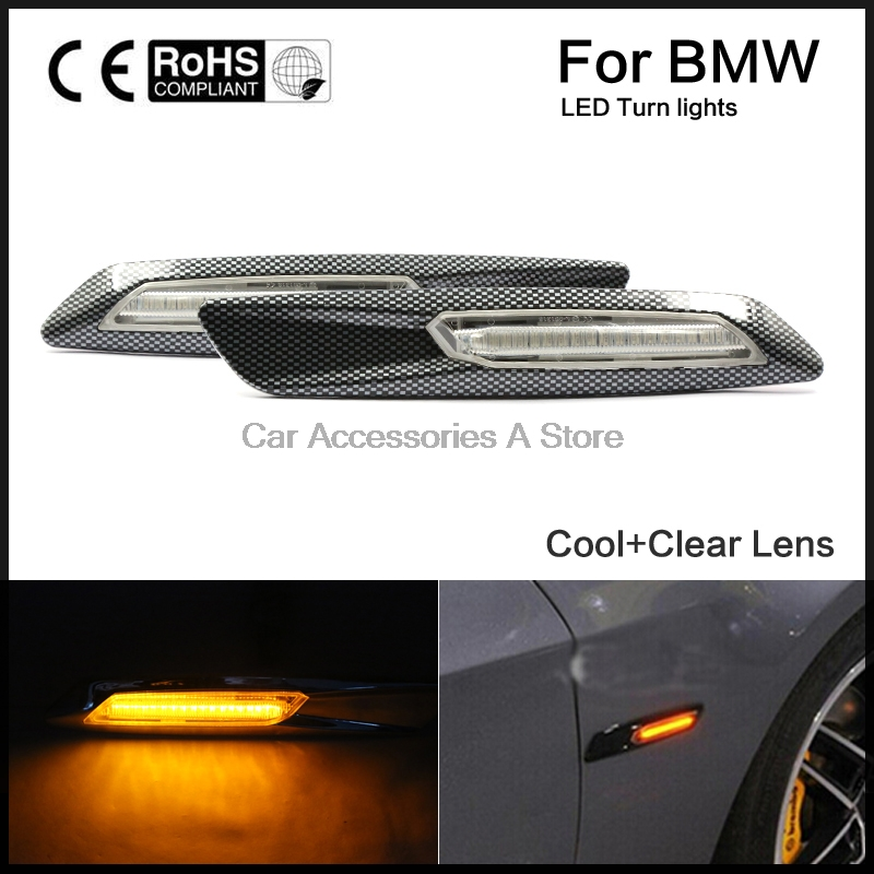 Side Turn Signal LED Fender Side Marker  For BMW E81 82 87 88 E90 91 92 93 E60 61 free shipping 2x led turn signal side light auto parts led side marker car accessories with m logo for bmw e46 02 05 4d 5d