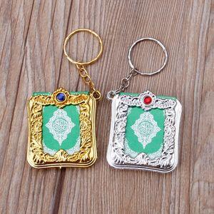 Image 3 - Mini ark alcorão livro de papel real pode ler árabe o alcorão chaveiro muçulmano jóias