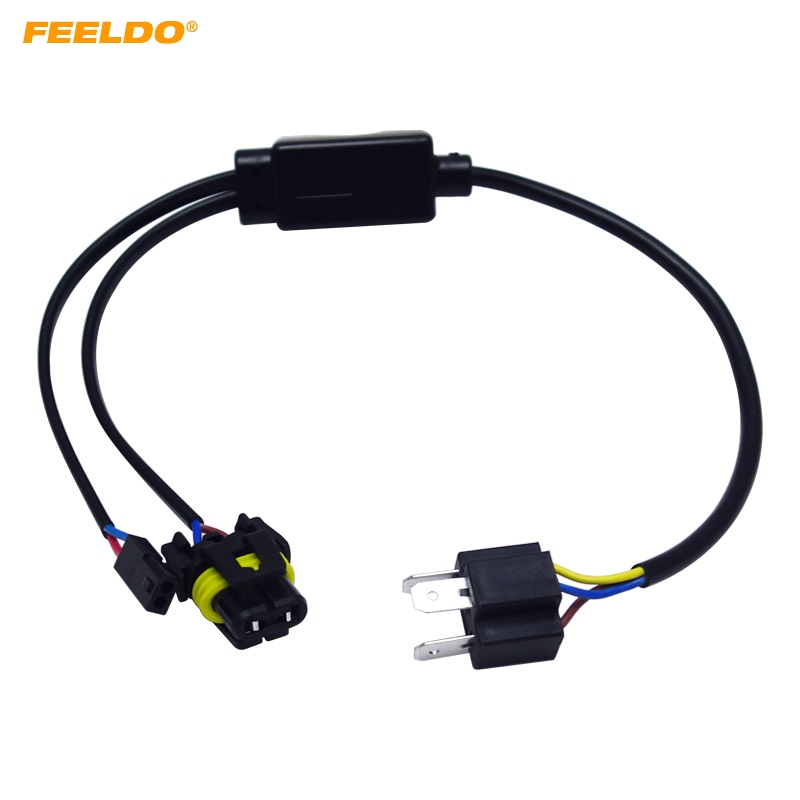 Feeldo 6pcs Simplified H4  9003  Hb2 Hi  Lo Bi Xenon Hid