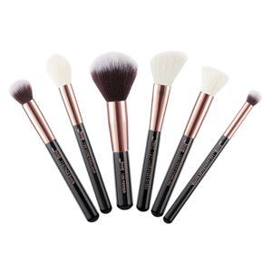 Image 2 - Jessup Black/ Rose Gold Professional Makeup Brushes Set Make up Brush Tool kit Buffer Paint Cheek Highlight Make up brush beauty