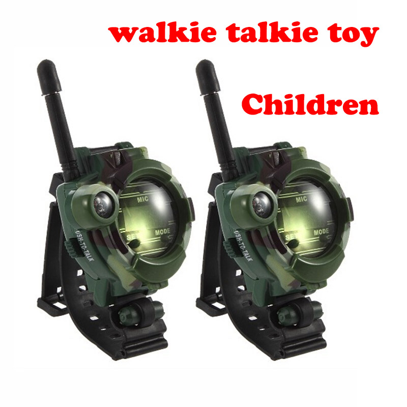Military Camouflage Walkie Talkie Toys For Children Multi-functional Wrist Watch Two Way Radios Toy Compass Magnifier Reflector